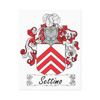 Escudo de la familia de Settimo Impresiones En Lienzo Estiradas