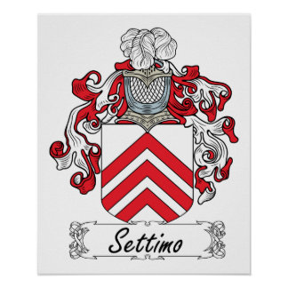 Escudo de la familia de Settimo Posters