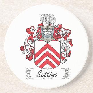 Escudo de la familia de Settimo Posavasos Personalizados