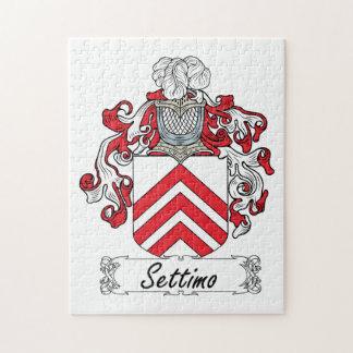 Escudo de la familia de Settimo Rompecabeza