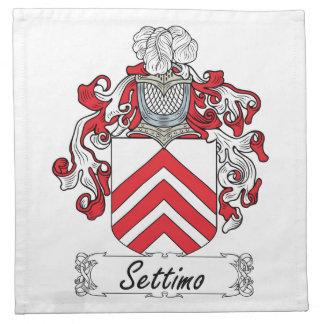 Escudo de la familia de Settimo Servilletas De Papel