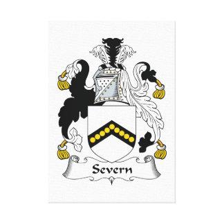 Escudo de la familia de Severn Impresiones En Lona Estiradas