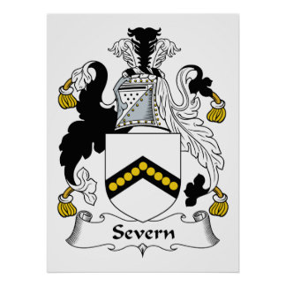 Escudo de la familia de Severn Póster