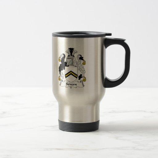 Escudo de la familia de Severn Tazas De Café