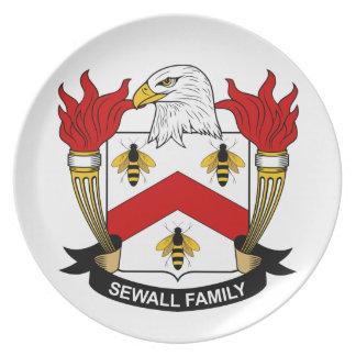 Escudo de la familia de Sewall Plato De Comida