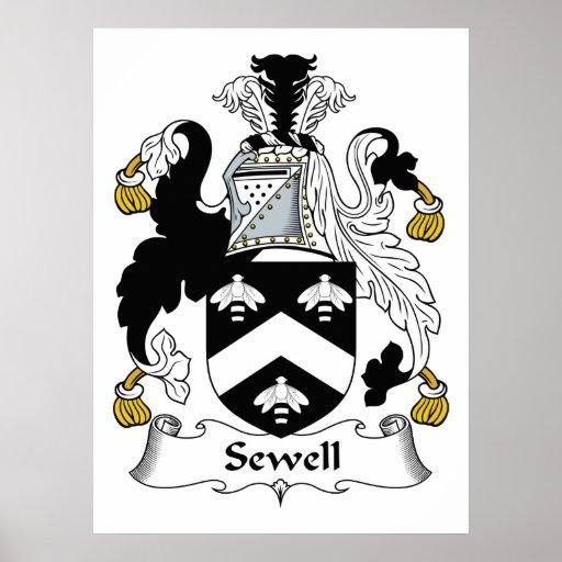 Escudo de la familia de Sewell Póster