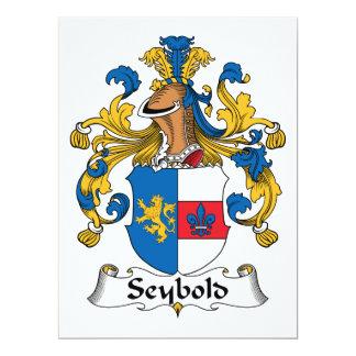 Escudo de la familia de Seybold Invitación 16,5 X 22,2 Cm