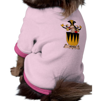 Escudo de la familia de Seyer Camisetas De Perrito