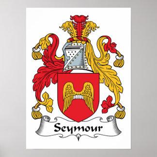 Escudo de la familia de Seymour Posters