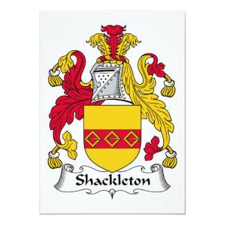 Escudo de la familia de Shackleton Invitación