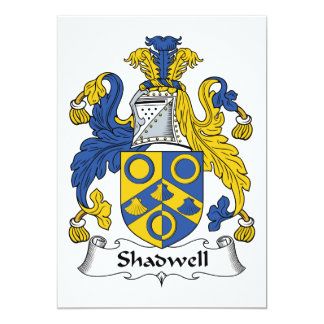 Escudo de la familia de Shadwell Invitaciones Personalizada