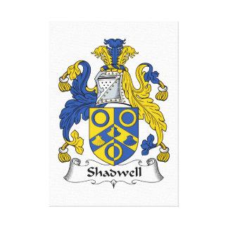 Escudo de la familia de Shadwell Impresiones En Lienzo Estiradas