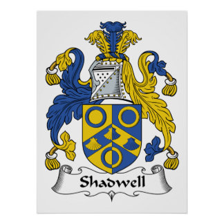 Escudo de la familia de Shadwell Póster