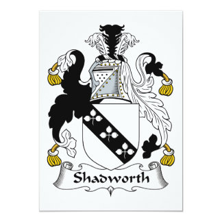 Escudo de la familia de Shadworth Invitaciones Personalizada
