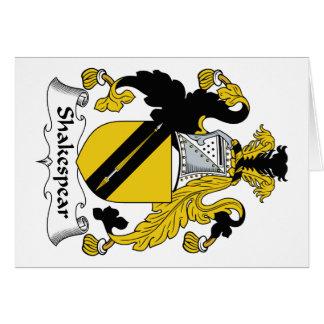 Escudo de la familia de Shakespear Tarjeta De Felicitación