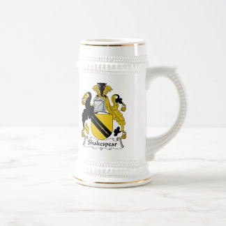 Escudo de la familia de Shakespear Jarra De Cerveza
