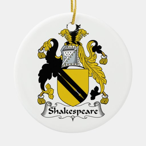 Escudo de la familia de Shakespeare Ornamentos Para Reyes Magos