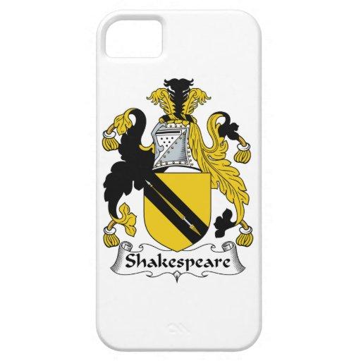 Escudo de la familia de Shakespeare iPhone 5 Fundas
