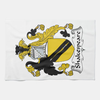 Escudo de la familia de Shakespeare Toalla De Mano