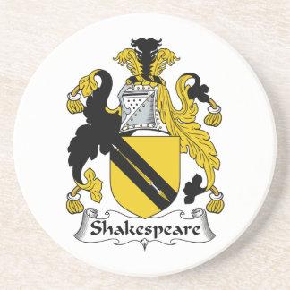 Escudo de la familia de Shakespeare Posavasos De Arenisca