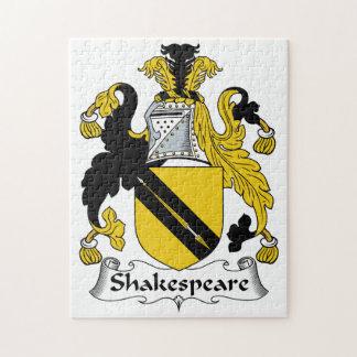 Escudo de la familia de Shakespeare Puzzle Con Fotos