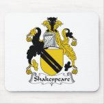 Escudo de la familia de Shakespeare Tapetes De Ratón
