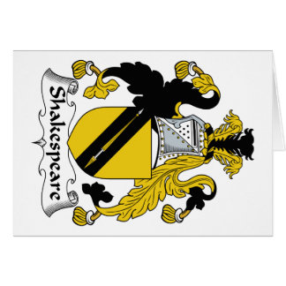 Escudo de la familia de Shakespeare Tarjeta De Felicitación