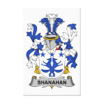 Escudo de la familia de Shanahan Lienzo Envuelto Para Galerías