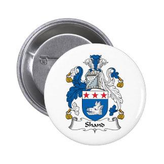 Escudo de la familia de Shand Pin Redondo De 2 Pulgadas