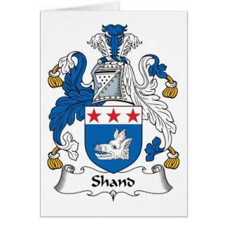 Escudo de la familia de Shand Tarjeta De Felicitación