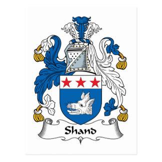 Escudo de la familia de Shand Tarjeta Postal