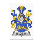 Escudo de la familia de Shanley Impresion De Lienzo
