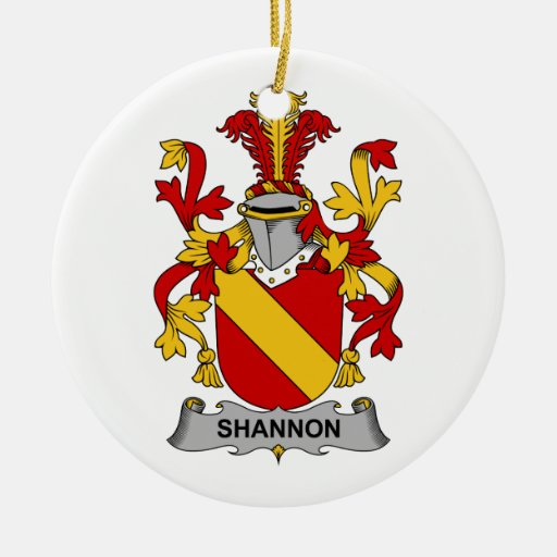 Escudo de la familia de Shannon Ornaments Para Arbol De Navidad