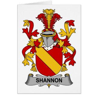 Escudo de la familia de Shannon Tarjeta De Felicitación