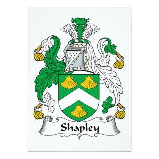Escudo de la familia de Shapley Comunicado Personalizado