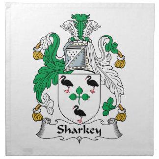 Escudo de la familia de Sharkey Servilletas De Papel