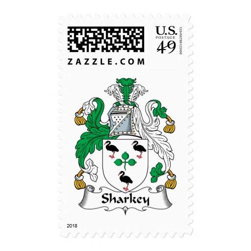 Escudo de la familia de Sharkey Timbre Postal