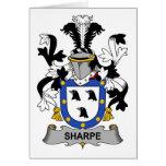 Escudo de la familia de Sharpe Felicitación