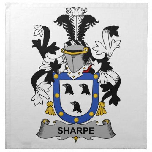 Escudo de la familia de Sharpe Servilleta De Papel