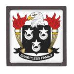Escudo de la familia de Sharpless Caja De Regalo De Calidad
