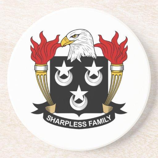 Escudo de la familia de Sharpless Posavasos Diseño