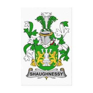 Escudo de la familia de Shaughnessy Impresión En Lienzo