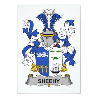 """Escudo de la familia de Sheehy Invitación 5"""" X 7"""""""