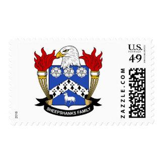 Escudo de la familia de Sheepshanks Estampilla