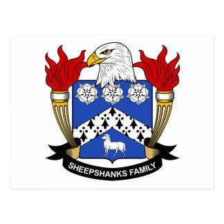 Escudo de la familia de Sheepshanks Postal