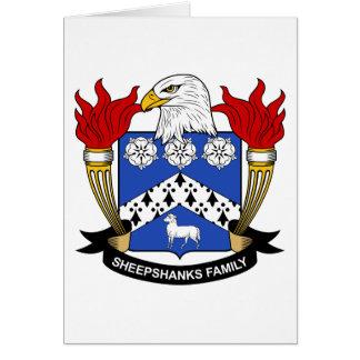 Escudo de la familia de Sheepshanks Tarjeta De Felicitación
