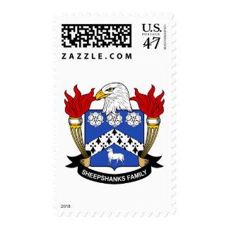 Escudo de la familia de Sheepshanks Timbre Postal