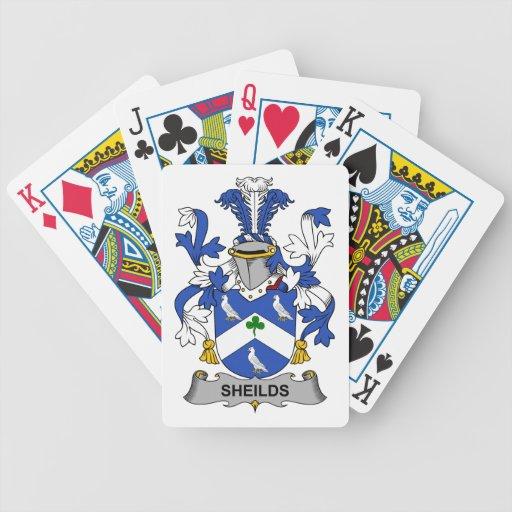 Escudo de la familia de Sheilds Cartas De Juego