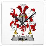 Escudo de la familia de Sheill Relojes