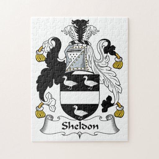 Escudo de la familia de Sheldon Rompecabezas Con Fotos